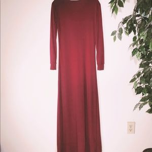 Other - Duster - Burgundy Pull Over Split Opening In Front